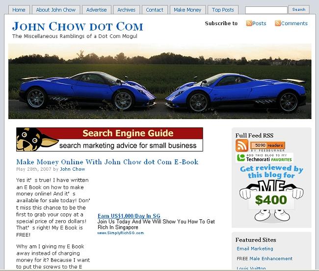 www.johnchow.com