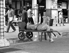 dream job (jobarracuda) Tags: street lumix avenida nap sleep cart fz50 panasoniclumix rizalavenue dmcfz50 jobarracuda