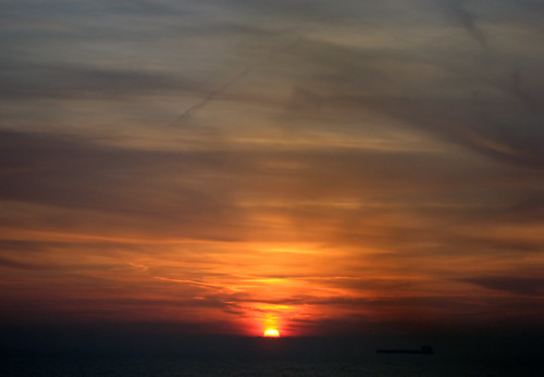 Sunset in the English Channel