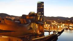 Guggenheim Bilbao (arkaitz ZO) Tags: guggenheimbilbao guggenheimbilbaomuseum bilbao bizkaia basquecountry euskadi longexposure sunset bluehour architecture overtheexcellence 2016 autumn thebluehour magicsunset futurista futuristic shape