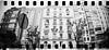 2016-05 - 056SR/059SR - DSC_0017 (sarajoelsson) Tags: sprocketrocket blackandwhite bw panorama panoramic sprocketholes digitizedwithdslr toycamera ilford 135 35mm 2016 hp5 monochrome plasticlens everydaylife filmphotography filmisnotdead believeinfilm filmshooter film wideangle lomography lomo may madrid spain city urban xtol teamframkallning bnw svartvitt blackwhite spring springtime