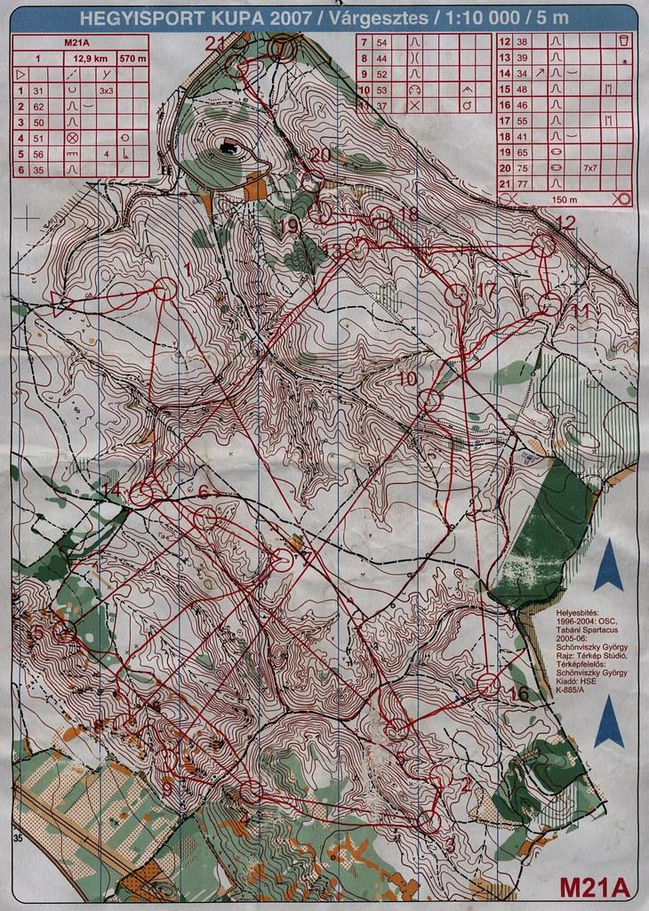 Hegyisport Kupa - Várgesztes - térkép
