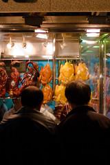 Dinner? (three-B) Tags: china chicken window dinner hongkong restaurant duck asia chinesefood windowshopping lpwindows