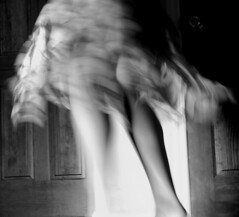 All night I wanna dance (Fooolintherain) Tags: door white black photography dress legs excellent knees joanne calf taosuwan