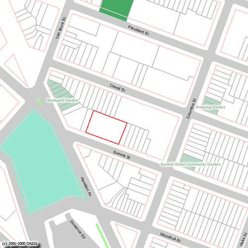 Location of Gowanus Nursery and Community Gardens in Red Hook