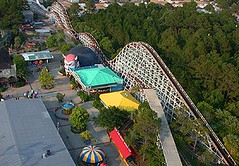 Miracle Strip Amusement Park Starliner aerial view (stevesobczuk) Tags: seaside florida amusementpark panamacitybeach miraclestrip redneckriviera us98 frontbeachrd