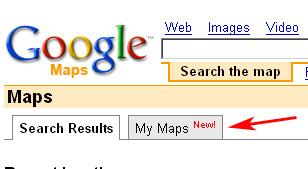 Google My Maps Tab