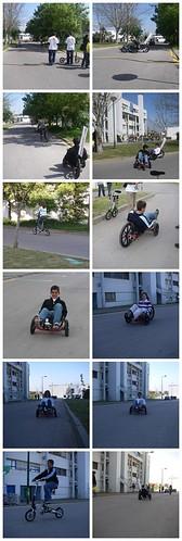 ExpoFCT 2007 - Alguns dos que experimentaram as nossas cenas a pedal