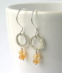 Citrine & silver earrings