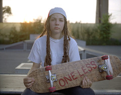 ARIANA010 (ILLskateFORes) Tags: girl one skateboarding less gardasil