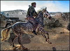 (shadowplay) Tags: horse backlight battle morocco extras taliban ouarzazate makingthemovie northernalliance pathto911