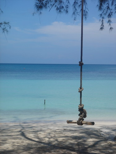 Sairee Beach swing, Ko Tao, Thailand