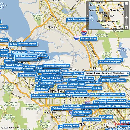 Plaxo Contacts Map View is pretty damn sweet