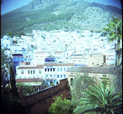 View from Tower (Eyeshoot Photography) Tags: 120 holga morocco chefchaoun
