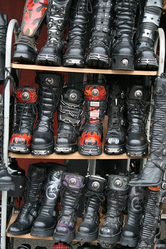 Goth stack in Camden Town