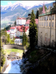 (N. Mexico) Tags: mountains alps water beautiful bavaria austria town waterfall colorful village badgastein skivillage resorttown gasteinerache
