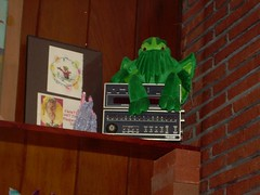 Cthulhu guards an old computer