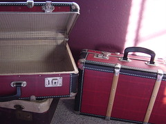 a cranky person wanted to see these (beebalalou) Tags: vintage suitcases