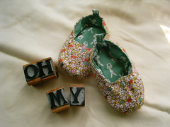 the other favorite... (shebrews) Tags: baby shoes sewing accessories slippers japanesecraft