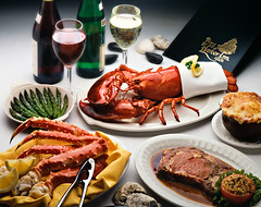 Surf & Turf (fhansenphoto) Tags: food dinner french soup prime king surf wine jus au crab asparagus lobster oysters onion supper rib turf