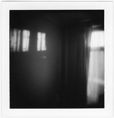 (catherine buca) Tags: light blackandwhite polaroid evening holga soft room grain dreamy holgaroid polga