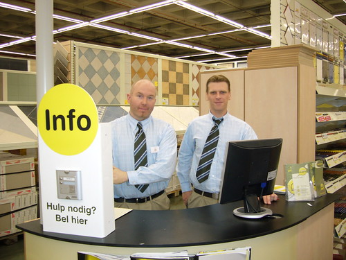 Fred and Andy at their info-point desk
