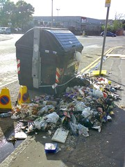 Burnt out bins on Edinburgh's Westfield Road (2)