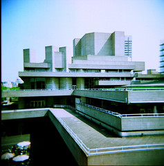 holga rx2 (Keiron*) Tags: london architecture holga lomo landmark icon agfa nationalfilmtheatre