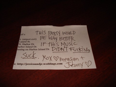 This party would be better if the music didn't fucking suck. xox Meagan + Jenny