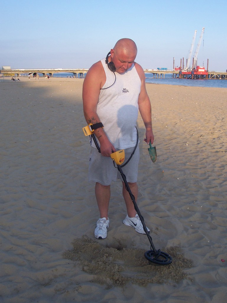 Metal Detector at Bournemouth Beach