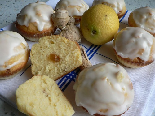 Lemon and Candied Ginger Muffins 009