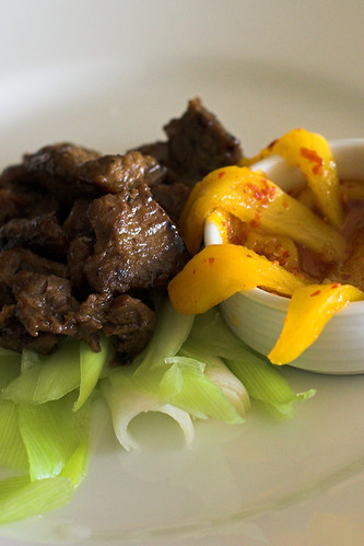 Beef, with Mango Relish