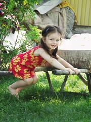 (Marius Muscalu) Tags: summer color cute girl happy countryside europe child minolta outdoor may romania cousin a200 dimage romanian 2007 year3 2yearsold roumanie wcp konicaminolta 2years ilie liteni konicaminoltadimagea200 iarina muscalu iarinailie 28may2007 2ani bymariusmuscalu sucevean wheelchairphotographer fotografsuceava