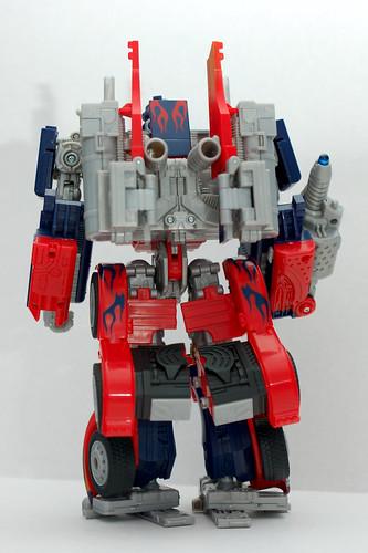 Juguete de Optimus Prime de espaldas