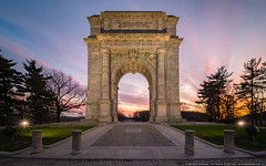Sunset at Valley Forge (mhoffman1) Tags: continentalarmy hdr laowa paulphilippecret revolutionarywar sonyalpha valleyforge a7r arch historic memorial sunset wideangle wayne pennsylvania unitedstates us