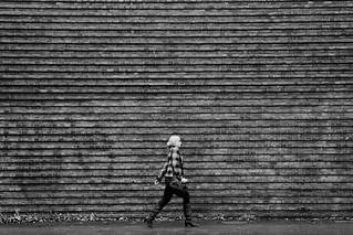 the wall and the girl.