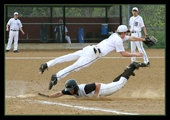 IMG_1505 (mark174us) Tags: baseball action slide marquette firstbase closeplay marquettehighschool marquettebaseball