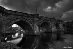 4776 - Yarm Bridge (M R Fletcher) Tags: bridge monochrome clouds reflections river blackwhite yorkshire north teesside yarm tees markfletcher