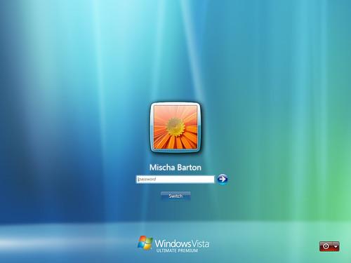 비스타 출시 이전에 만들어진 사용자 로그인 화면