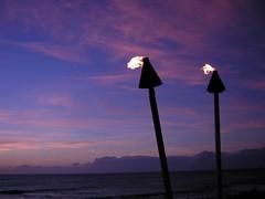 Tikis at Sunset