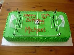 Soccer Field Cake (cupcaketastic) Tags: green field cake chocolate soccer australia melbourne victoria biscuit badge oreo buttercream badged cupcaketastic