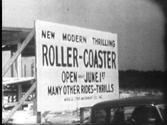 New Modern Thrilling Roller-Coaster. Open about June 1st. Many other rides and thrills. The Starliner at Miracle Strip Amusement Park, Panama City Beach Florida. (stevesobczuk) Tags: modern roller amusementpark rides coaster thrills starliner 1963 miraclestrip thrilling