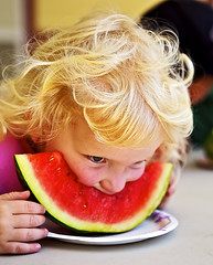 A Child-Eating Watermelon (Bill Adams) Tags: hawaii watermelon explore waimea bigisland canonef2470mmf28lusm kamuela keiki kamaaina wht 5d365 healthykeikifest