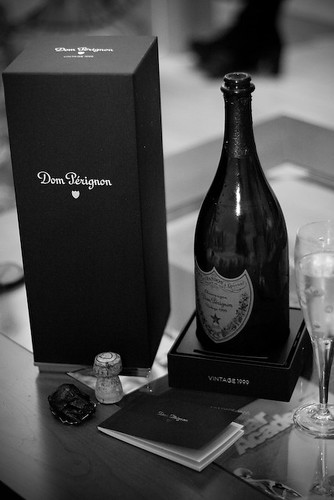 Dom Perignon, the Blonde and the Photographer...