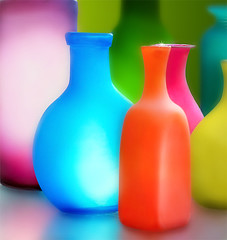 A Vibrant Glow (mactastic) Tags: pink blue light shadow stilllife orange reflection green glass yellow modern wow catchycolors interestingness rainbow colorful pretty glow purple bright bottles vibrant vivid spotlight collection vase glowing lime multicolored striking luminous eyecandy interestingness9 artglass i500 beautyisintheeyeofthebeholder exploretop10 mactastic colorphotoaward impressedbeauty superbmasterpiece diamondclassphotographer flickrdiamond explore17april07