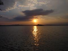 Lake Bolsena at sunset (Pasquale Robustini) Tags: sunset lake digital lago tramonto sundown sony digitale bolsena crepuscolo