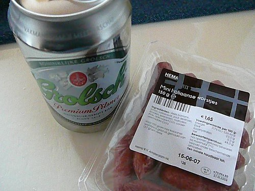 Salami and beer