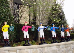 Jockey Statues at Keeneland Race Track