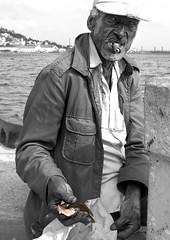 Havana Fisherman (Floppylion) Tags: old sea fish man hat fisherman hands havana cuba oldman cigar oldmanandthesea top20travelportraits