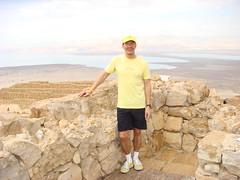 Tim Wu with iPoo at Masada in Israel